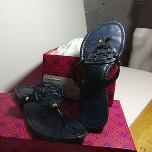TORY BURCH pre owned navy sandals